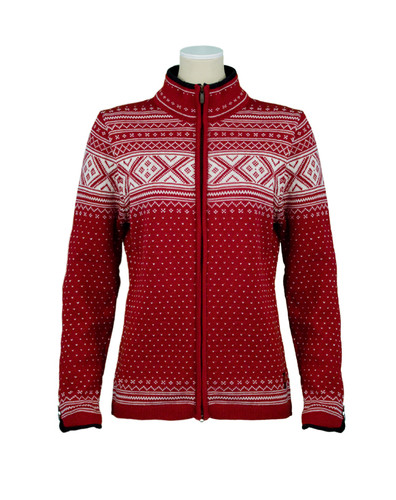 Dale of Norway, Valle cardigan, ladies, in Red Rose/Off White, 80211-B, on sale at The Nordic Shop
