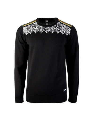 Dale of Norway Lillehammer sweater, Mens, in Black/Orange Peel/Off White/Spring Green, 93271-F