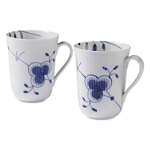 Royal Copenhagen Blue Fluted Mega 11 oz. Mug 2-Pack