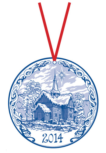 2014 Stav Church Ornament - Rollag. Made by Norse Traditions and available at The Nordic Shop.