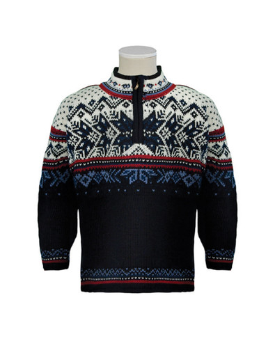 Dale of Norway, Vail childrens sweater in Midnight Navy/Red Rose/Off White/Indigo/China Blue, 9034-C