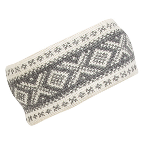 Dale of Norway Cortina 1956 Headband - Off White/Light Charcoal, 25014-E
