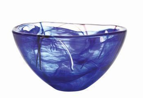 Kosta Boda Contrast Blue Bowl - Medium