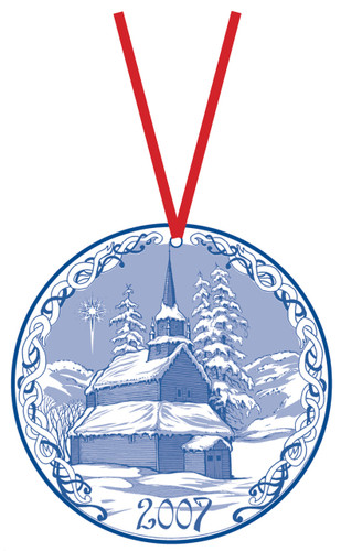 2007 Stav Church Ornament - Kaupanger. Made by Norse Traditions and available at The Nordic Shop.