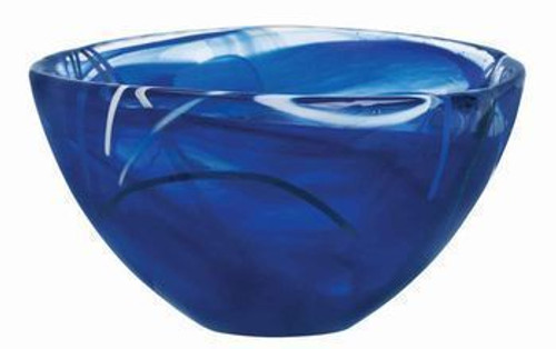 Kosta Boda Contrast Blue Bowl- Small