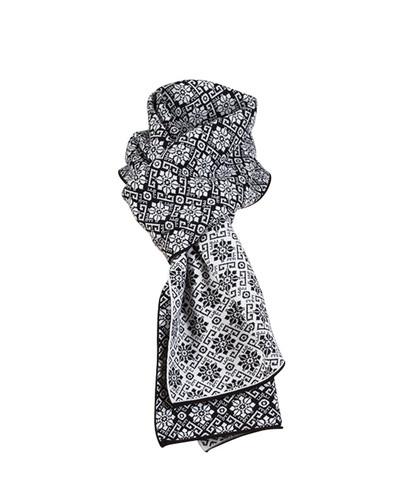Dale of Norway Sonja scarf in Black/Off White, 10961-J