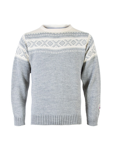 Dale of Norway, Cortina sweater, unisex, in Light Charcoal/Off White, 92521-E