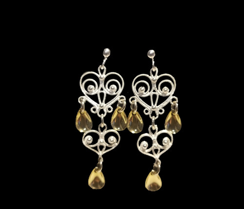 Noble Heart -3 Tears- Earrings, Solje of Norway