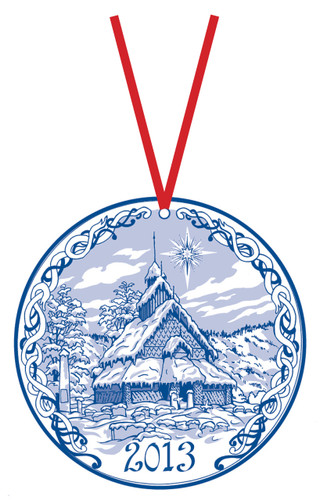 2013 Stav Church Ornament- Eidsborg. Made by Norse Traditions and available at The Nordic Shop.