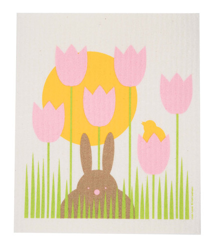 Swedish dish cloth, Bunny Garden