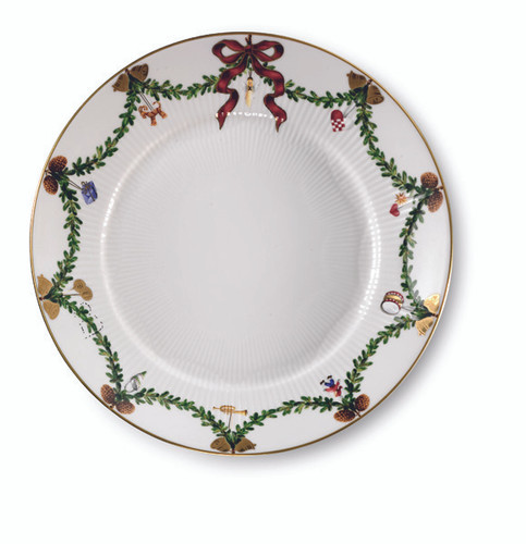 "Royal Copenhagen Star Fluted Christmas 8.75"" Salad Plate"