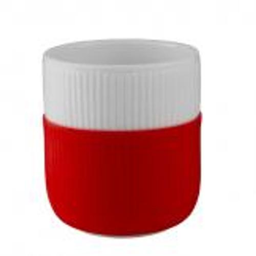 Royal Copenhagen fluted contrast mug in scarlet red