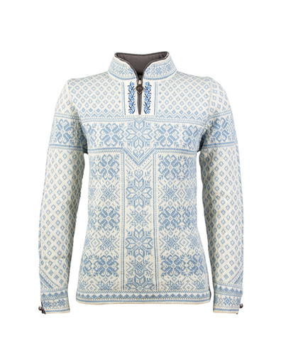 Dale of Norway, ladies Peace sweater in Ice Blue/Off White, 13311-A
