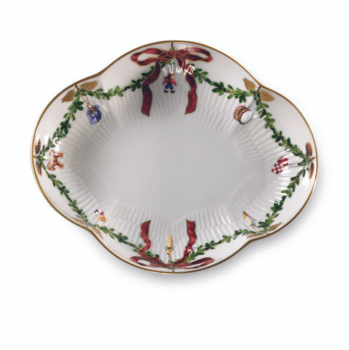 "Royal Copenhagen Star Fluted Christmas 8.5"" Oblong Dish"