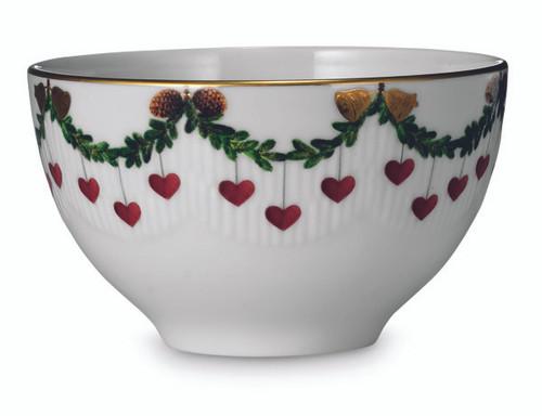 Royal Copenhagen Star Fluted Christmas 10 oz. Chocolate Bowl