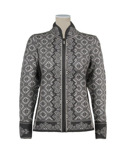 Dale of Norway, Christiania cardigan, ladies, in Schiefer/Off White, 81951-E, on sale at The Nordic Shop