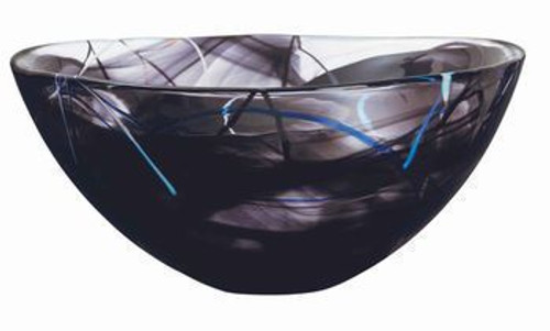 Kosta Boda Contrast Black Bowl- Large