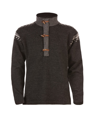 Dale of Norway, Finnskogen sweater, Mens, in Dark Charcoal/Smoke/Off White, 91901-E