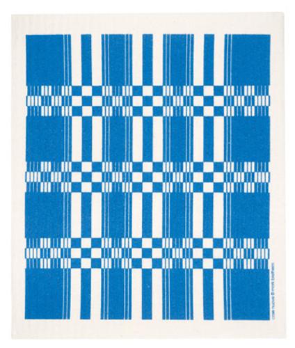 Swedish dish cloth, Blue Folk Weave design