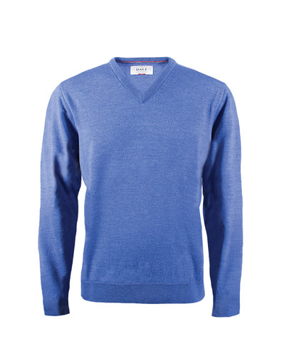 Dale of Norway, Harald Sweater, Mens, in Medium Blue Melange, 92412-H