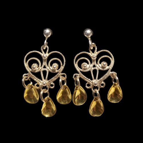 Single Heart - Three Tears- Earrings, Solje of Norway