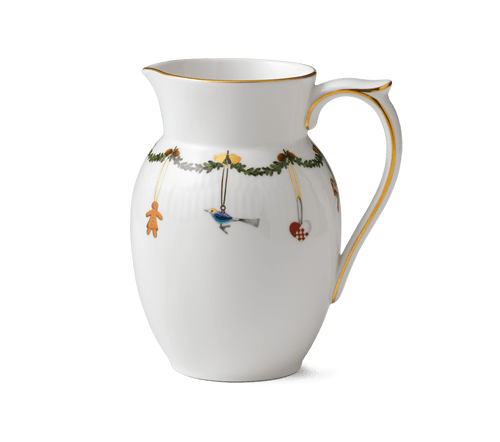Royal Copenhagen Star Fluted Christmas 1.5 pt. Serving Jug