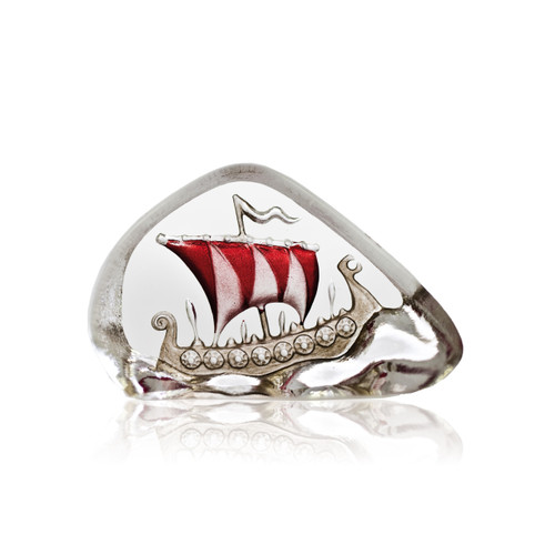Mats Jonasson Mini Red Sail Viking Ship