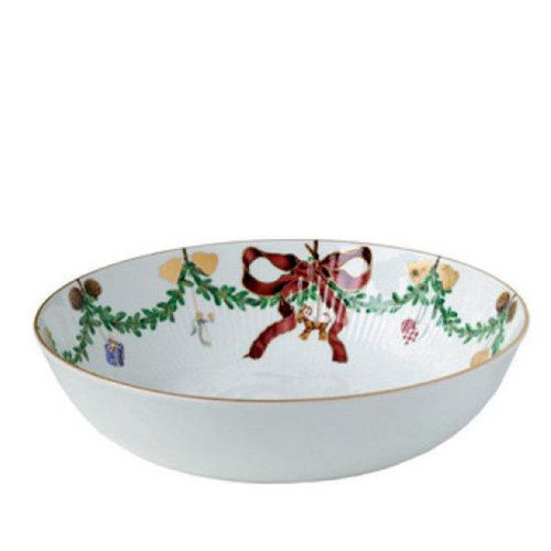 Royal Copenhagen Star Fluted Christmas Serving Bowl