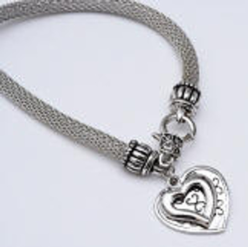 Danish Silversmiths Heart Bracelet