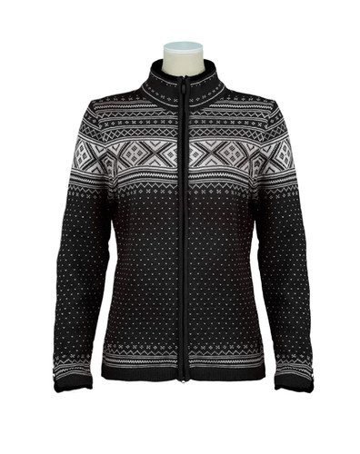 Dale of Norway, Valle cardigan, ladies, in Black/Off White, 80211-F, on sale at The Nordic Shop