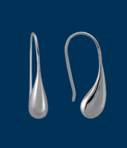 Teardrop Earrings, Danish Silversmiths