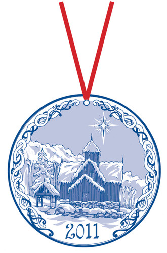 2011 Stav Church Ornament - Uvdal. Made by Norse Traditions and available at The Nordic Shop.