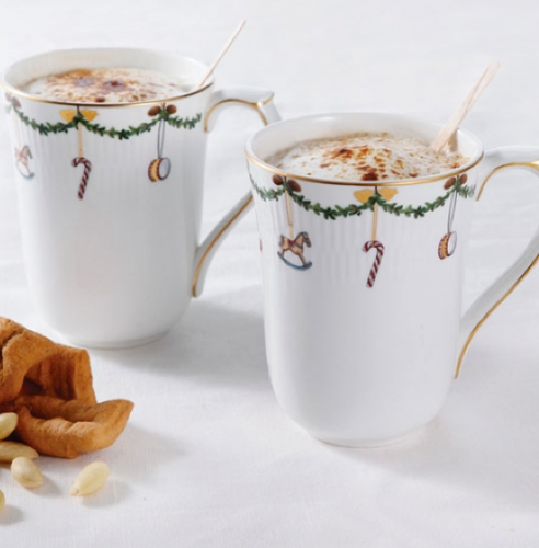 Royal Copenhagen Star Fluted Christmas Mugs