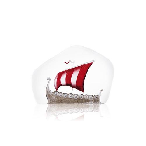 Mats Jonasson Medium Red Sail Viking Ship