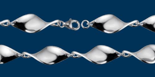 Shiny Twist Bracelet, Danish Silversmiths