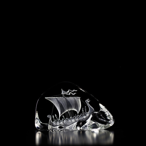 Mats Jonasson Large Clear Viking Ship