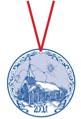 2001 Stav Church Ornament - Grip. Made by Norse Traditions and available at The Nordic Shop.