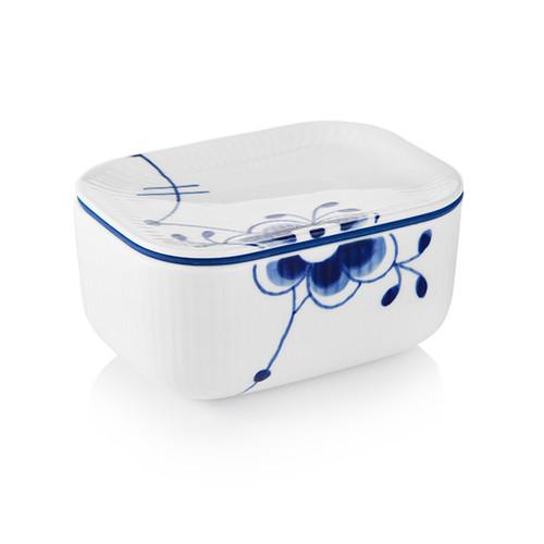 """Royal Copenhagen Blue Fluted Mega - Butter Jar with Lid, 2.75"""""""