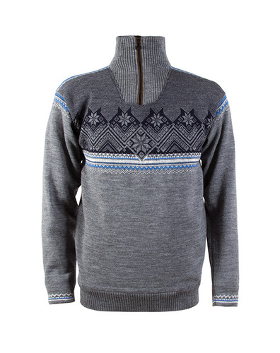 Dale of Norway's Glittertind Sweater, Mens, in Smoke/Cobalt/Navy/Light Charcoal, 92881-T