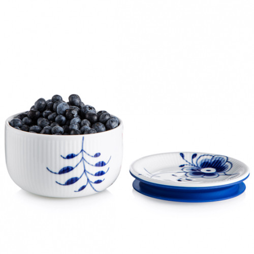 Royal Copenhagen Blue Fluted Mega Small Storage Jar, 11 oz.