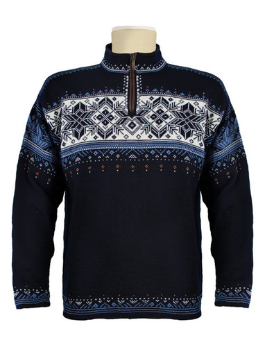 Dale of Norway, Blyfjell Sweater, Unisex, in Navy/China Blue/Off White/Cooper, 91291-C