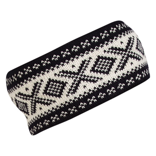Dale of Norway Cortina 1956 Unisex Headband in Black/Off White, 25014-F