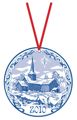 2010 Stav Church Ornament - Flesberg. Made by Norse Traditions and available at The Nordic Shop.