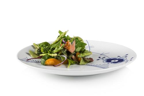 """Royal Copenhagen Blue Fluted Mega Dinner Plate Coupe, 10.75"""""""