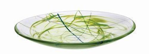 Kosta Boda Contrast Lime Platter