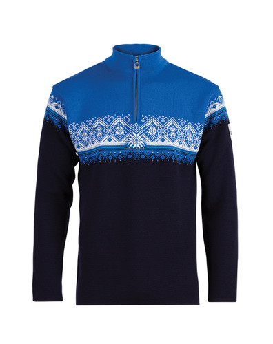 Dale of Norway, Moritz Pullover, Mens, in Navy / Sochi Blue/Cobalt/Off White, 91391-C
