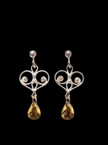 Noble Heart -One Tear- Earrings, Solje of Norway