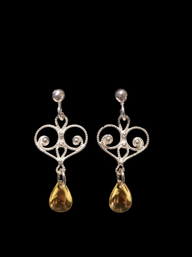 Noble Heart -One Tear- Earrings, Solje of Norway