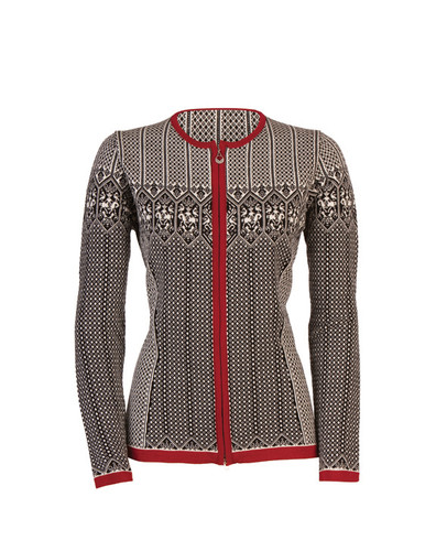Dale of Norway, Sigrid cardigan, ladies, in Black/Off White/Red Rose, 82071-F, on sale at The Nordic Shop