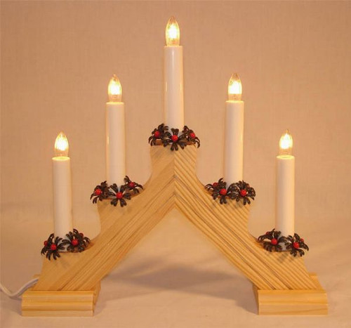 Swedish Welcome 5 Light  Candelabra - Natural
